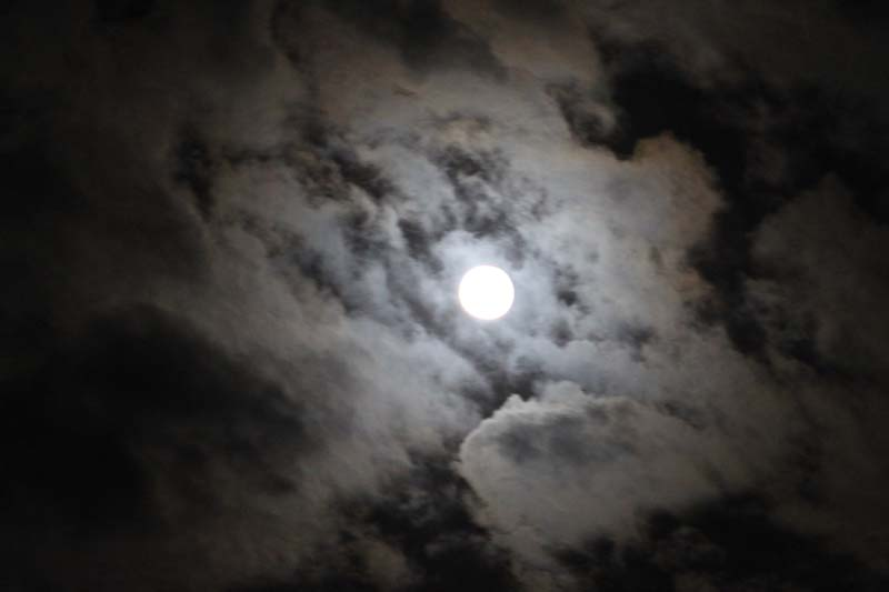 Cloudy super moon