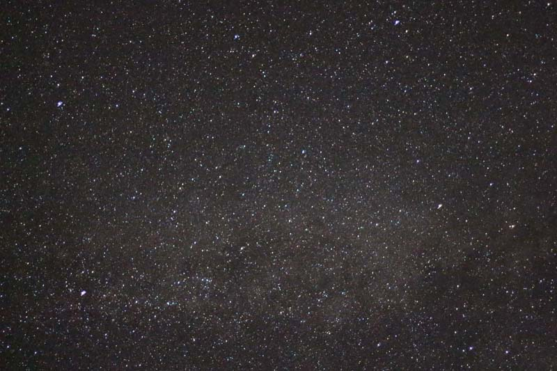 The stars of the Milky Way at night