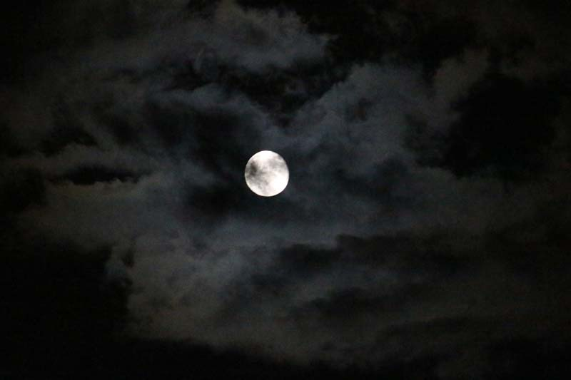 Moody super moon