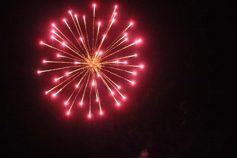 Firework explodes