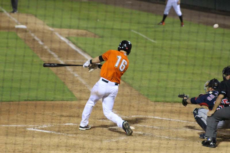Fresno Grizzlies baseball foul hit
