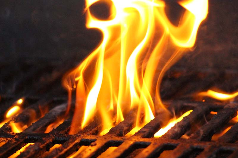 Flames on the Barbecue