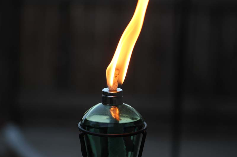 paraffin lamp flame