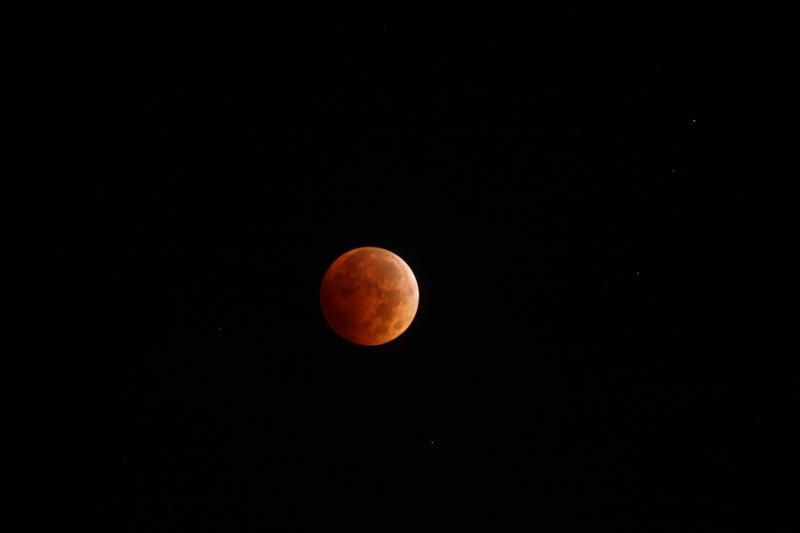 An Orange Blood moon